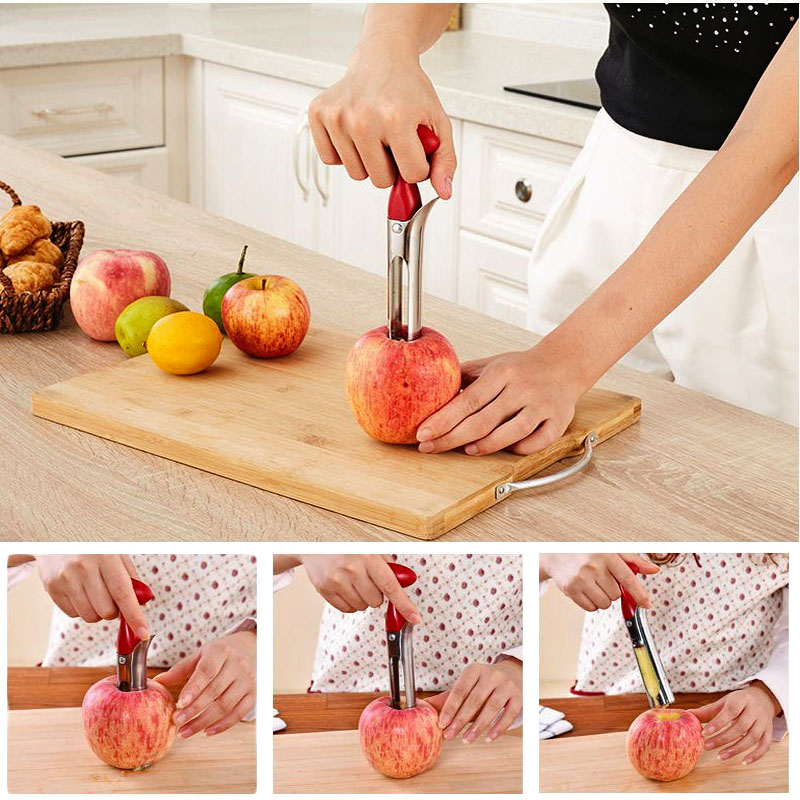 Wind flower Stainless Steel Apple Heart Corer Fruit Seed Core Remover Creative Kitchen Gadgets Fruit Vegetable Tools in Corers from Home Garden