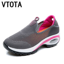 VTOTA Women Summer Sneakers 2018 Slip On Shoes For Tenis Feminino Casual Mesh Wedges Zapatillas Mujer H2