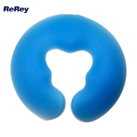 U Shape Big Size Silicon Spa Pad for Body Massage Health Care Beauty Bed Comfortable Large Silica Gel Pillow with Face Rest Hole