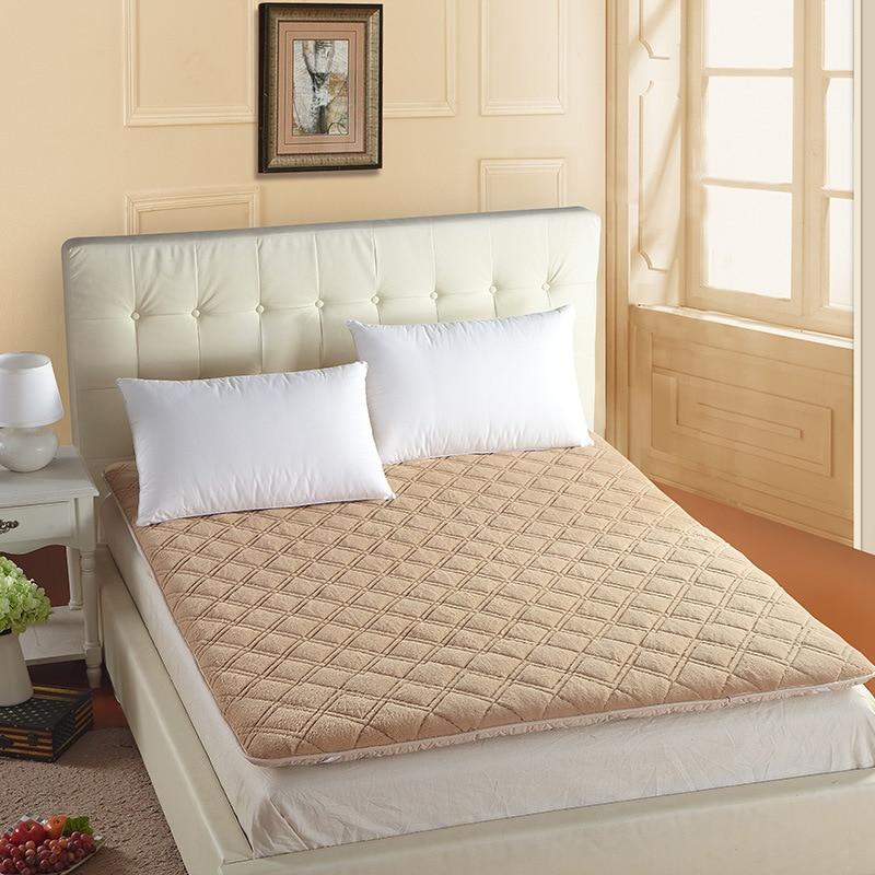 Матрас толстый теплый складной одиночный или двойной студент матрас Топпер мода новый стеганый кровать Шерпа