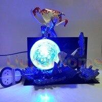 Naruto Minato VS Obito Rasengan Led Light Scene Anime Naruto Shippuden Led Night Lights Uchiha Obito Decorative Desk Lamp Blub
