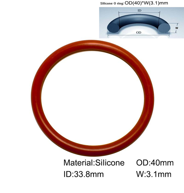 80piece/Size:40mm*33.8mm*3.1mm/Silicone o ring seal dichtung Red ...