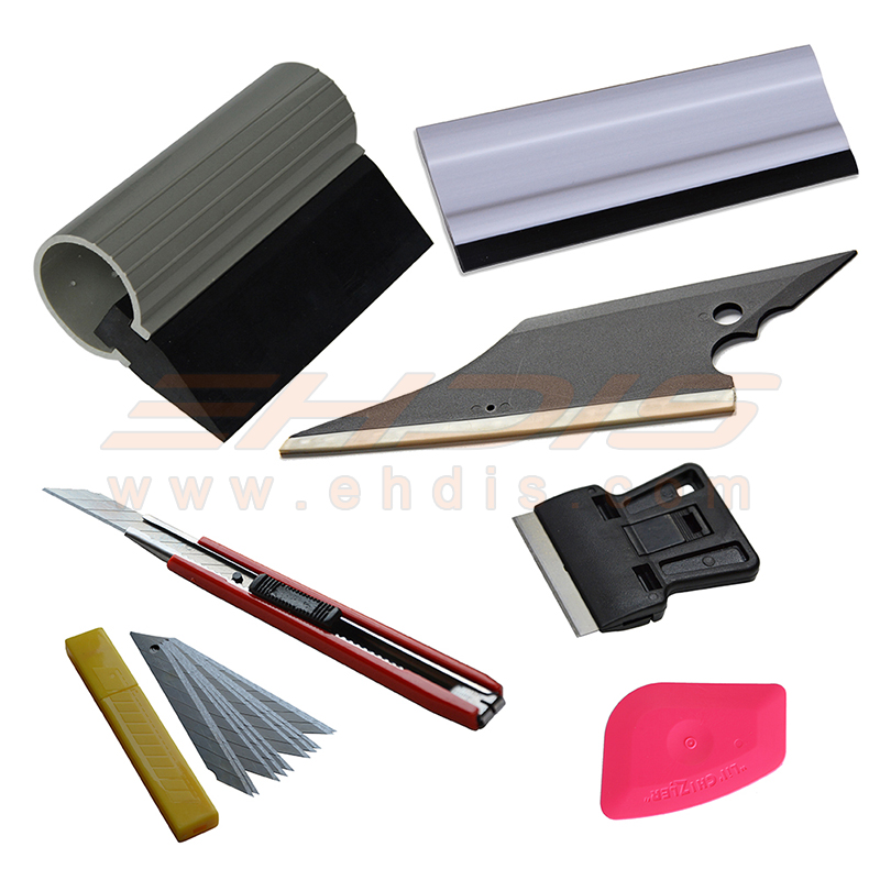EHDIS Professional Vinyl Car Wrapping Tool Set Window Tint Tools Kit Knife Scraper Vinyl Film Wrap Tool Auto Car Styling Tools carbon fiber vinyl film wrapping scraper tools bubble window wrapping film squeegee scraper car styling stickers accessories