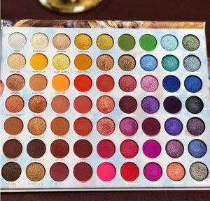Image 2 - Make up Lidschatten Palette 63 Farbe Sommer Sammlung Matte Schimmer Glitter Pigment Lidschatten Pallete Kosmetische