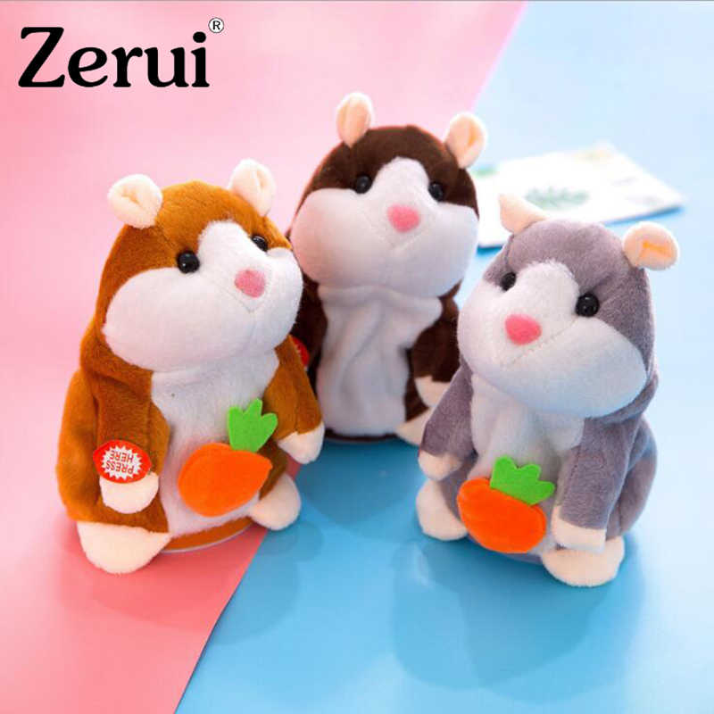 18cm Talking Hamster Muis Knuffel Met 72 Nummers Spreken Talking Sound Record Hamster Gevulde Pop Educatief Speelgoed voor kis Geschenken