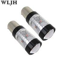 WLJH 2x Giallo (ambra) 800lm 30 W XBD LED Chip 1156 BA15S P21W 7506 Lente LED Dell'automobile indicatore di Direzione Lampadina Sider Marker Luce lampada