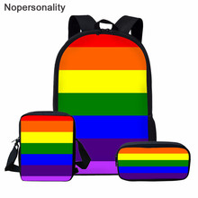 Nopersonality Rainbow Colorful School Bag for Children Girls