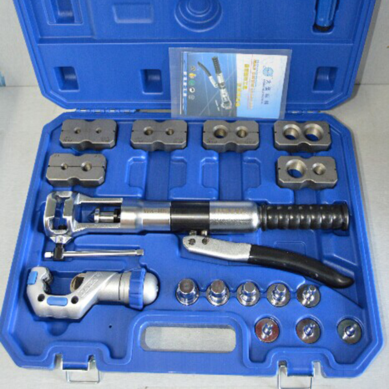 1pc refrigerant pipe hydraulic tool expander & flaring instrument wk - 400 hydraulic knockout tool hydraulic hole macking tool hydraulic punch tool syk 15 with the die range from 63mm to 114mm