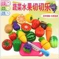 Preschool Children Alimentos Frutas e Vegetais De Corte Set Colorful Pretend Play Kitchen Set Brinquedos Para Crianças