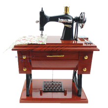 Sartorius Model Vintage Sewing Machine Music Box Kids Toy Birthday Gift Home Decor Play House Toy Crafts Collections