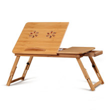 Computer Desk Laptop Table Bed Stand Folding Bamboo China Adjustable Height Furniture School Commercial With Storage TableDNZ002