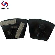RIJILI 12PCS/Set Trapezoid Redi-lock Grinding Disc Concrete Floor Diamond Plate marble grinding shoes P40B