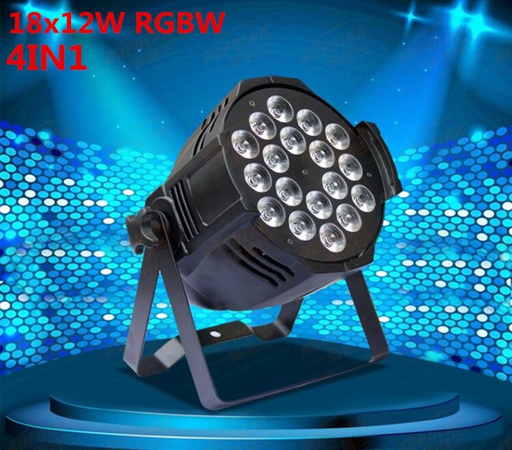 4pcs/lot, LED par 18x12W RGBW 4in1 Quad LED Par Can Par64 led spotlight dj projector wash lighting stage light light 4pcs lot led par 18x15w rgbwa 5in1 quad led par can par64 led spotlight dj projector wash lighting stage light