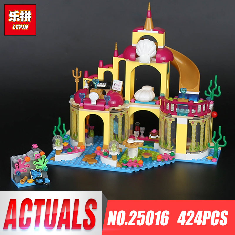 Lepin 25016 Kid Toys 424Pcs Girl Series The Undersea Palace Set Building Blocks Bricks Educational Funny New Gift Kid Toys Model