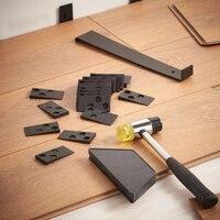 Diy piso laminado de madeira ferramenta de instalação piso kit montagem com 20pcs espaçadores conjunto de ferramentas