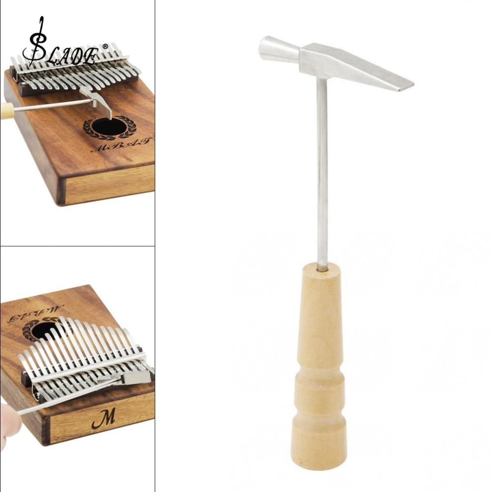 Strong And Durable Portable Wooden Handle Metal Thumb Piano Tuning Hammer For All Size Kalimba
