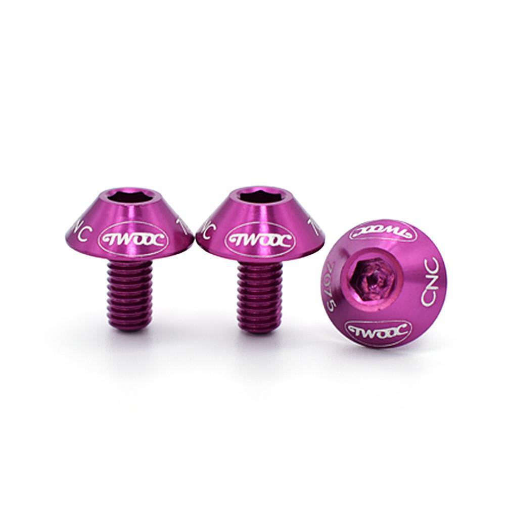 2 шт. велосипедный держатель для бутылки с водой крепежные болты из алюминиевого сплава с шестигранной головкой резьбовой винт для велосипедной бутылки - Цвет: Purple