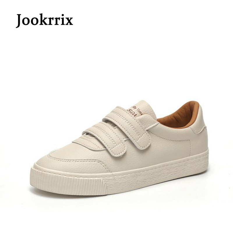 Jookrrix 2018 New Fashion Brand Girl Casual White Shoes Women Sneaker Lady Leisure Shoes Youth Casual Cross-tied Breathable Soft