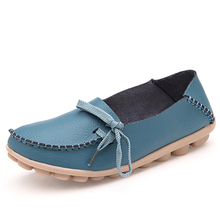 2015  Women Casual Flat Shoes Lace-Up Shoes Genuine Leather Single Shoes  Moccasins  women's loafers shoes,2065