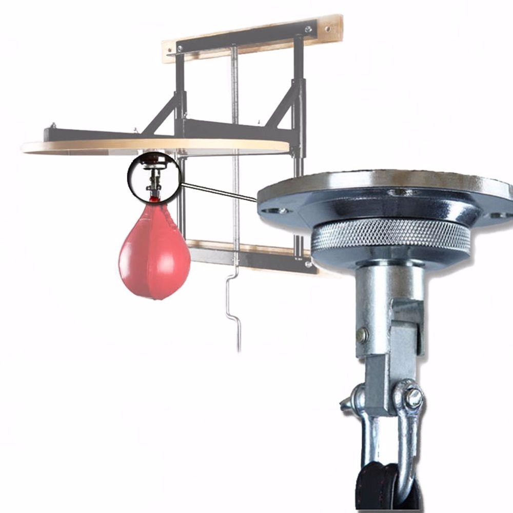 Galleria fotografica Professional Fitness Boxing Pear Speed Ball Swivel Boxing Punching Speedbag Base Accessory Pera Boxeo Training Boxing Equipment