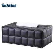 Ever Perfect Modern Rectangle PU Leather Tissue Box Napkin Toilet Paper Box Holder Case Dispenser Home Decoration