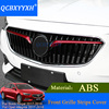 QCBXYYXH 2pcs Lot Car Styling ABS For Buick Regal 2017 2018 Front Grille Strips Cover External