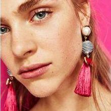 BK Women Tassels Wool Earrings Female Personality Fashion Trendy Banquet Ornaments Eardrop For Wedding Present
