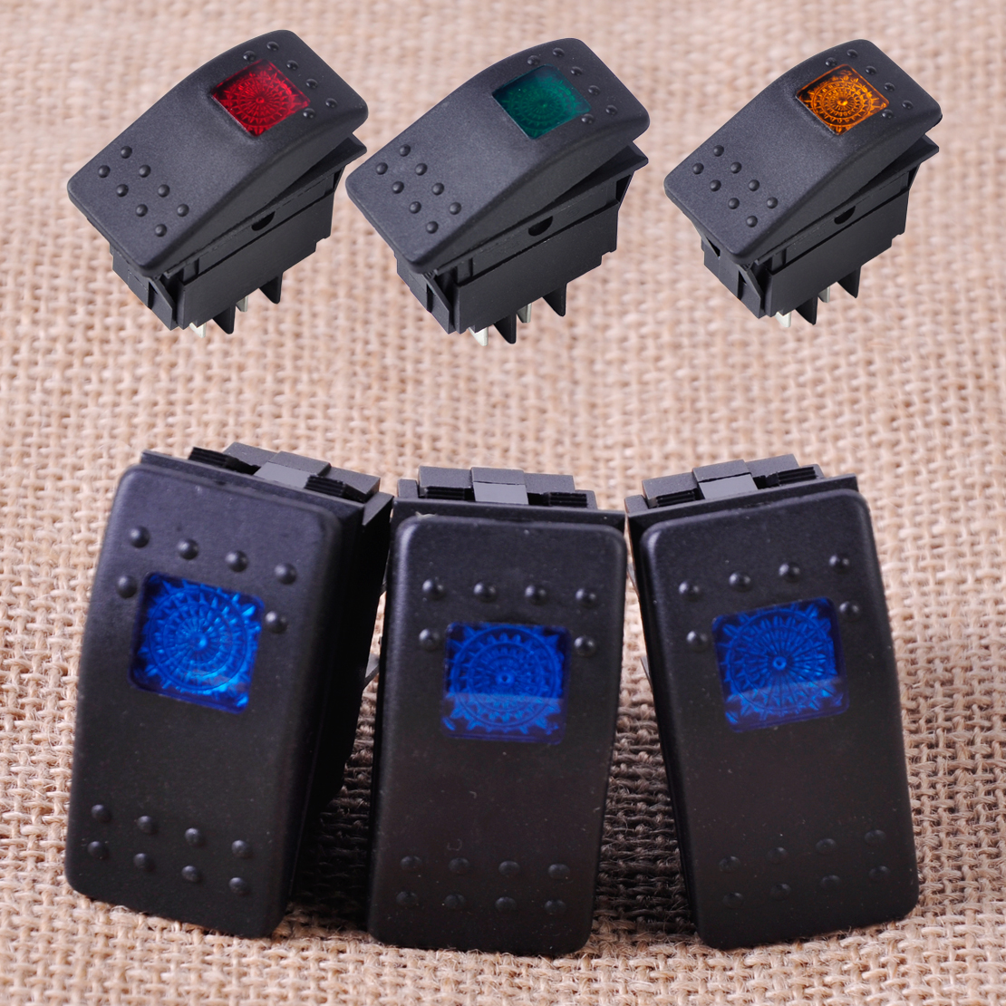 3pcs Waterproof Led Rocker Toggle Switch ON / OFF Button LED Light for Car Boat Buses Motorcycles 12V 20A 4Pin For Ford VW Audi 3pcs waterproof led rocker toggle switch on off button led light for car boat buses motorcycles 12v 20a 4pin for ford vw audi