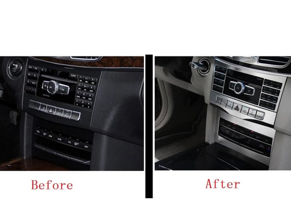 Keskmise konsooli reguleerimisnupu raamikate 3-osaline Mercedes Benz - Auto salongi tarvikud - Foto 3