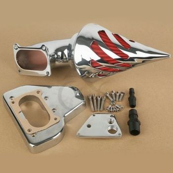 Motorcycle Spike Air Cleaner Kits Intake Filter For Honda VTX 1800 2002-2009 Aluminum