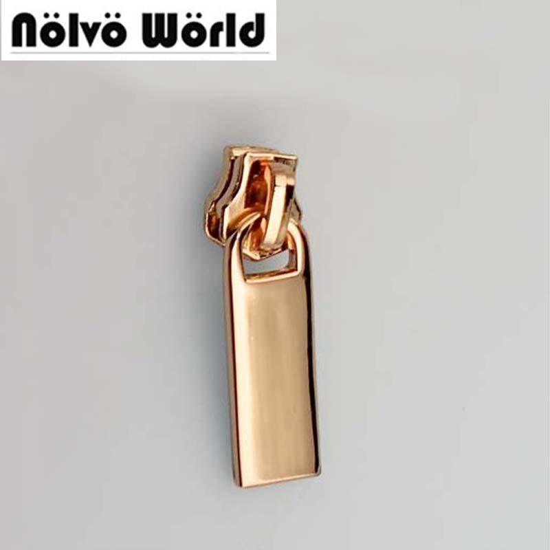 50PCS Metal Sliders 5 DIY Pulls Zipper Metal Head For Bags Backpack Bag Sewing,#5 Metal Head Zipper Slider Parts