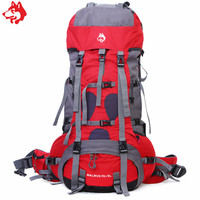 High Quality 75L Red/Blue/Yellow outdoor sport bag store Travelling Hiking Camping trekking bag 75L Backpack