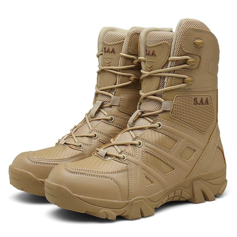 Masculino De Ao Combate Preto Confortável 39 Para Ar sand Militares Sapatos Yeinshaars Botas Deserto Livre 47 Tamanho Homens Bege Wearable Black Sqx58wZF
