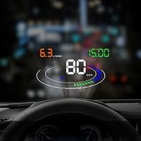 E300 Hud OBD2 Smart Digital Speedometer Car HUD Head Up Display RPM Water Temperature Low Voltage Alarm
