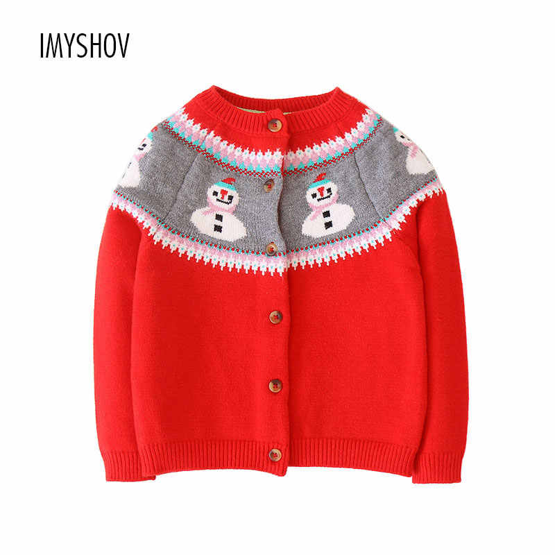 4b63a8e6c72f Bebé niñas Cardigan de algodón lindo Jersey de punto de Navidad para niña  suéteres de Otoño