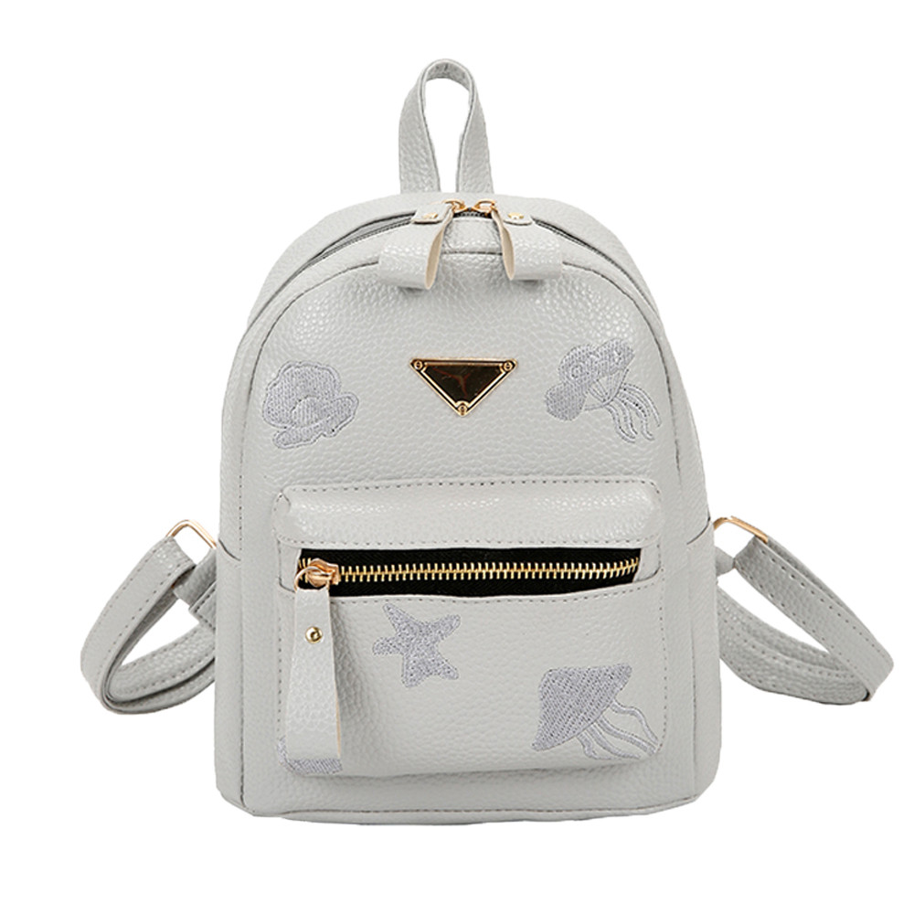 Women's Canvas Backpack Travel School Rucksack Floral Small Travel Canvas Backpack Schoolbag For Girls Rucksack L