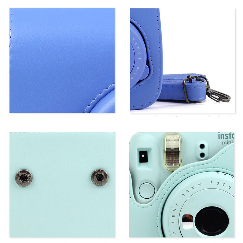 Carry PU Leather Bag Case Cover with Shoulder Strap For Fujifilm Instax Mini 9 Mini 8 Mini 8+ Instant Film Photo Camera