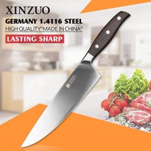 XINZUO NEW 8 inch chef knife Germany steel kitchen knife cleaver knife vegetable/melon knife rosewood kitchen tool free shiping