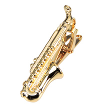 Fine Jewelry Men's Accessories sax &anchor Tie Bar Clasp Clip Pin Men Rhinestone Business Small Ties Clips 2 style mix