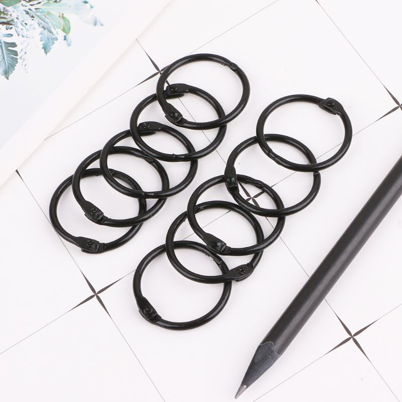 10pcs Metal Loose Leaf Binder Ring Book Hoops DIY Albums School Office Supplies Craft