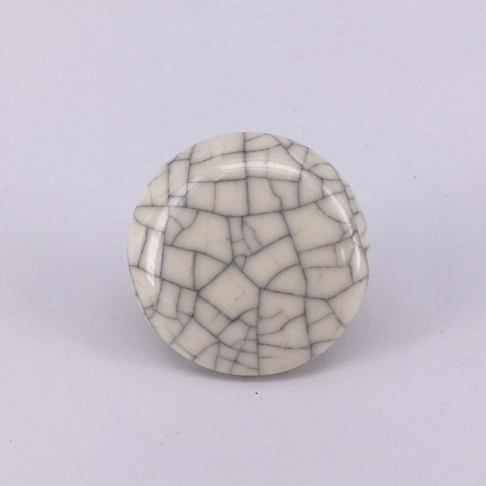 32mm Single Hole Crack Ceramic Furniture drawer knobs Kitchen Cabinet Wardrobe Cupboard Knob Door Pulls Handles