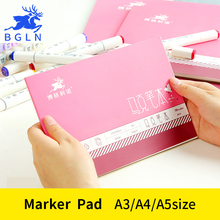 BGLN A3/A4/A5 Proffessional Sketch Painting Marker Paper For Drawing Marker Pad For School Student Artist Supplies