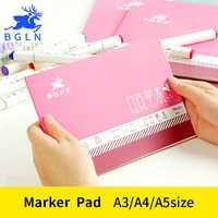 BGLN A3/A4/A5 Sketch profesional de pintura rotulador de papel para Bloc de notas de dibujo para estudiantes escolares de arte suministros