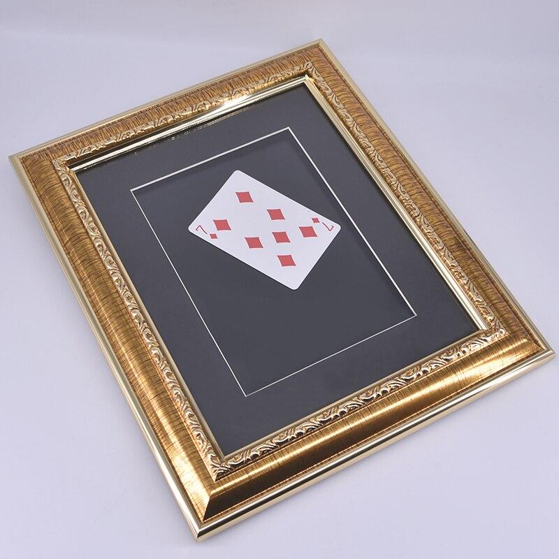 Carte de foudre dans le cadre Photo tours de magie drôle scène accessoires de Gimmick magique pour magiciens professionnels magie montre grognons