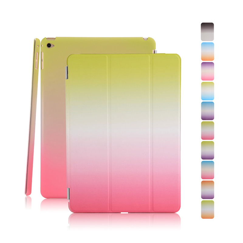 Flip Stand Wake Sleep Smart Case Skin PC Back Cover for iPad Air2 Air 2