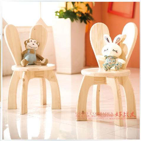 Niño lindo silla sillón muebles de madera sillas de niño bebé ...