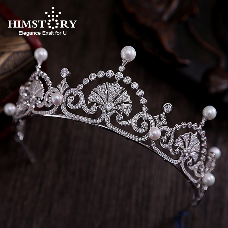 Vintage CZ Royal Princess Wedding Hair Accessories Queen Brides Tiara Crown Zircon Crystal Silver Bridal Hairbands Hair Jewelry 1000pcs dupont jumper wire cable housing female pin contor terminal 2 54mm new