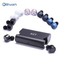 X2T Mini Invisible Twins Wireless Bluetooth Headset CSR 4 2 Bluetooth Earphones With Magnetic Charging Case