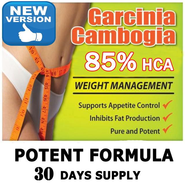 (30 días de suministro) pura extractos caps 85% HCA garcinia pérdida de peso que adelgaza
