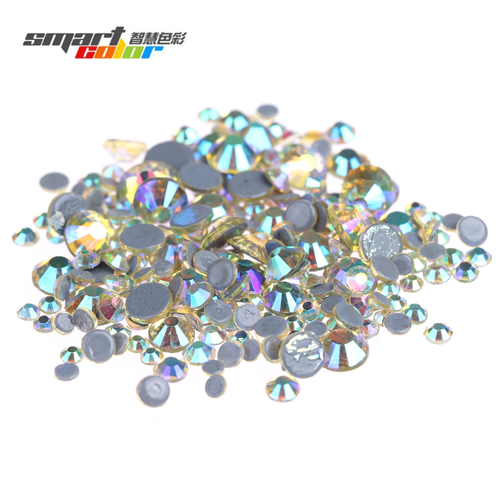 Light Yellow AB Color Hotfix Glass Rhinestones Glue Backing Iron On Strass Diamond Perfect For Clothes Shoes Dresses Supplies мозайка glass glue